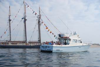 The Erica Lee II visits the tall ships in Salisbury